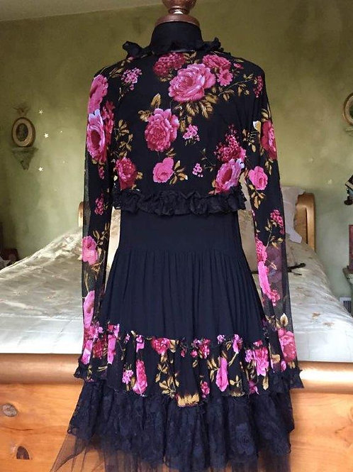 Western Vintage Dress & Bolero Jacket