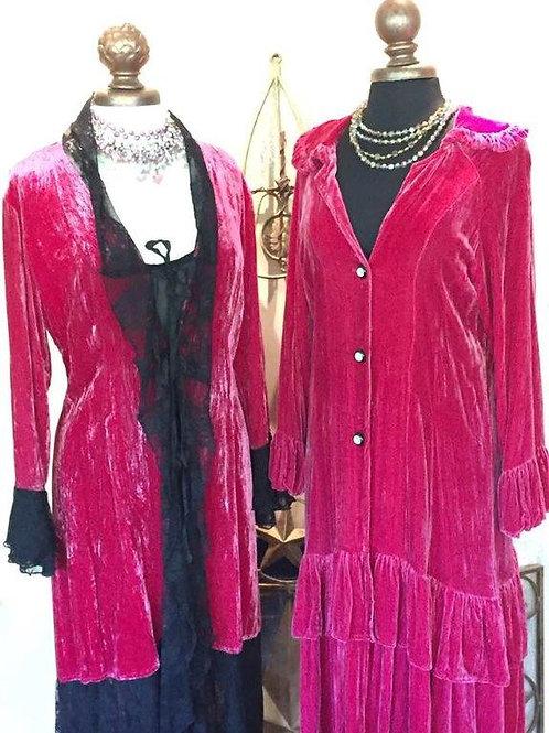 Velvet Dusters in Hot Pink!