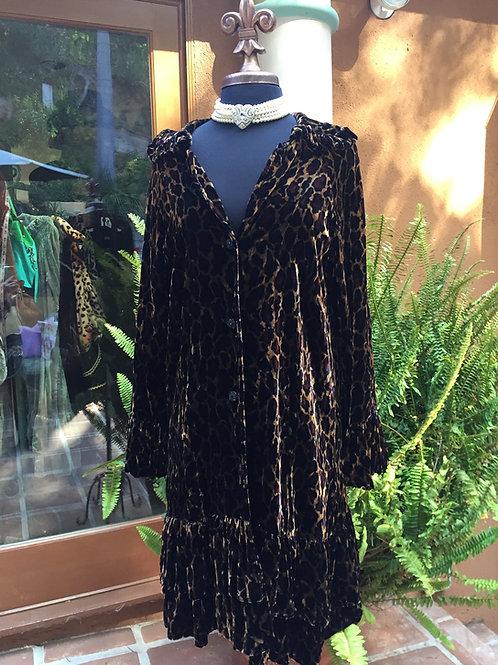Princess Coat in Leopard Velvet