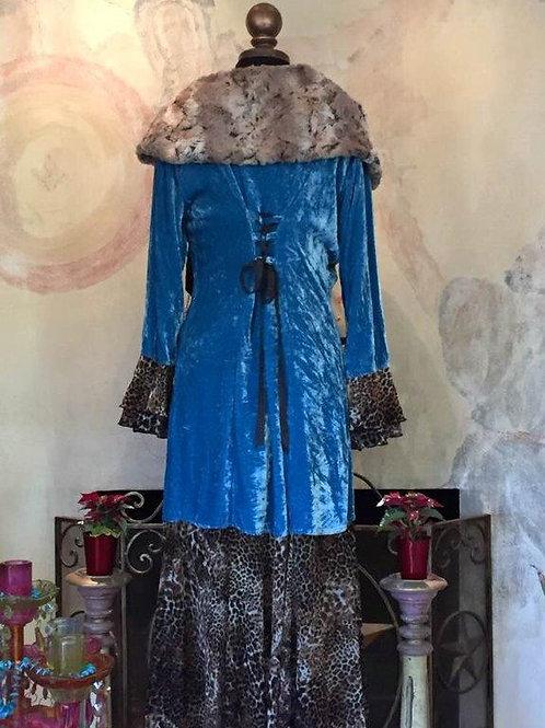 Leopard Love Sleeping Beauty Jacket in silk velvet