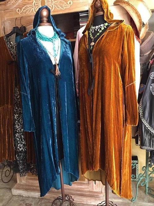 Hoodie Coats in Silk Velvet