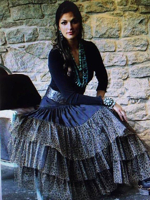 Rodeo Cinderella Skirt with Leopard Ruffles