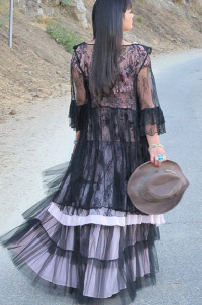 Lace jacket and Rodeo Cinderella skirt