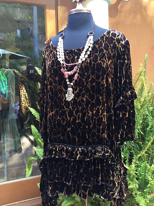 Mariposa Tunic in Leopard Velvet