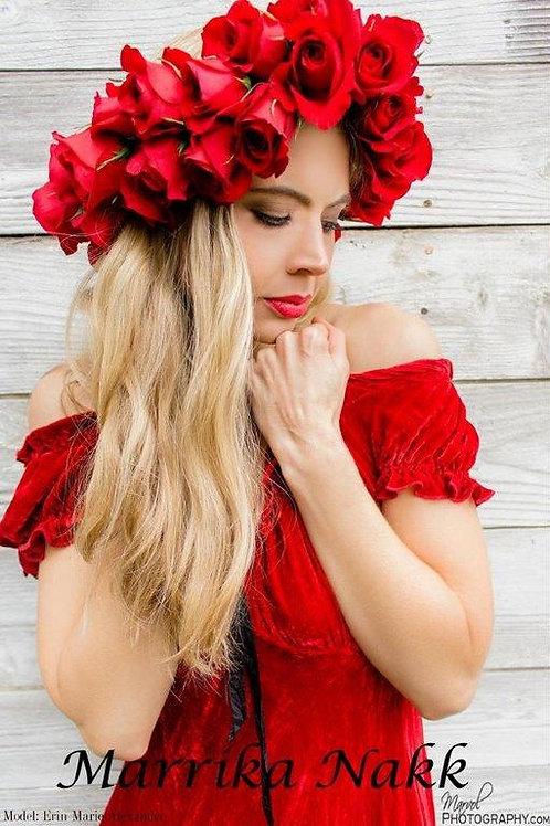 Saloon Dress (Red Silk)