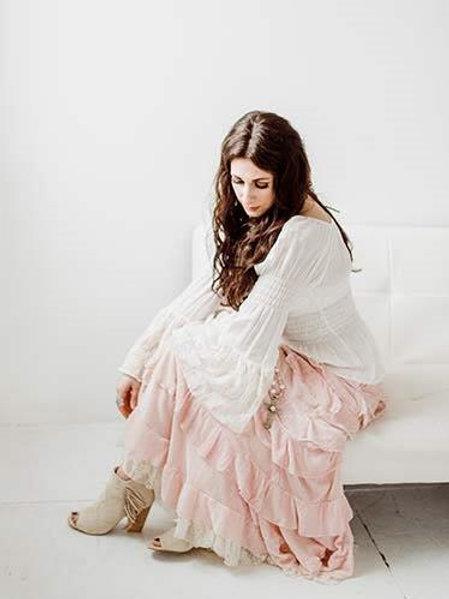Princess Skirt & Peasant Top (silk velvet)