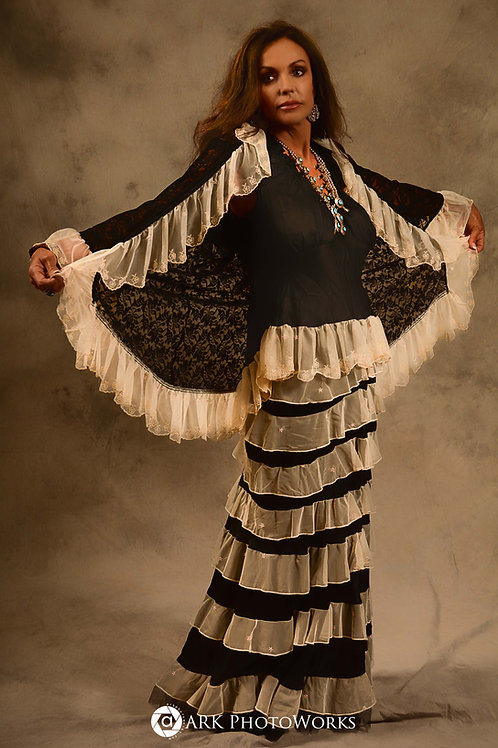 Princess Skirt with Antique Lace Trim