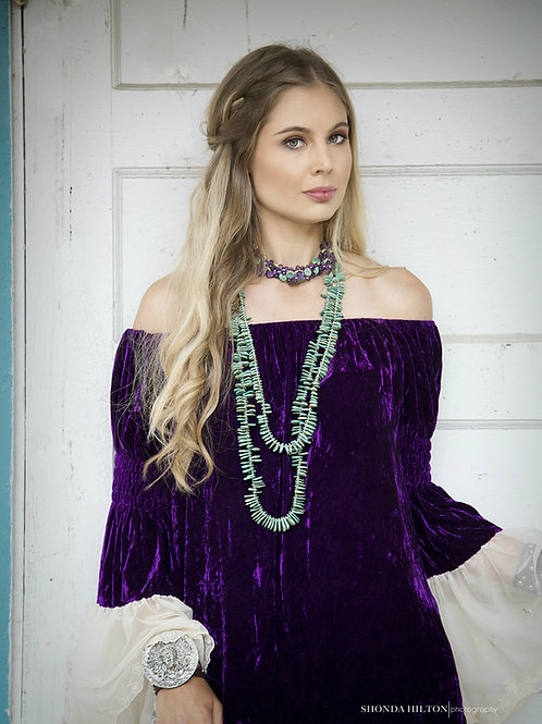 Gypsy Tunic with Antique Rose/Mesh Sleeves