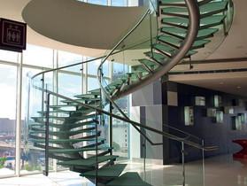 Escalier verre feuilleté