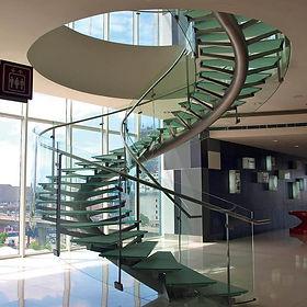 verre feuilleté marches escalier