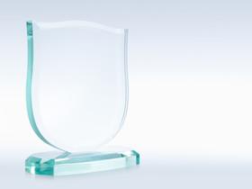 Trophée en verre - Collage UV