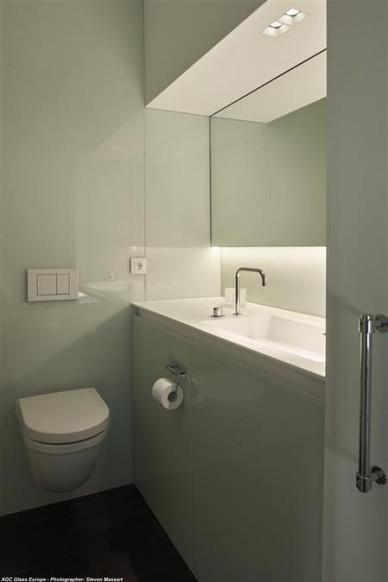 verre laqué salle de bain