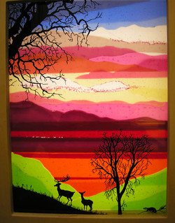 Sunset panel in desks