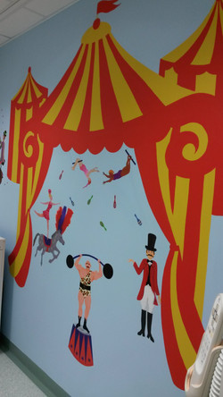 Detail of the circus room