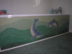 Dolphin Bath Panel