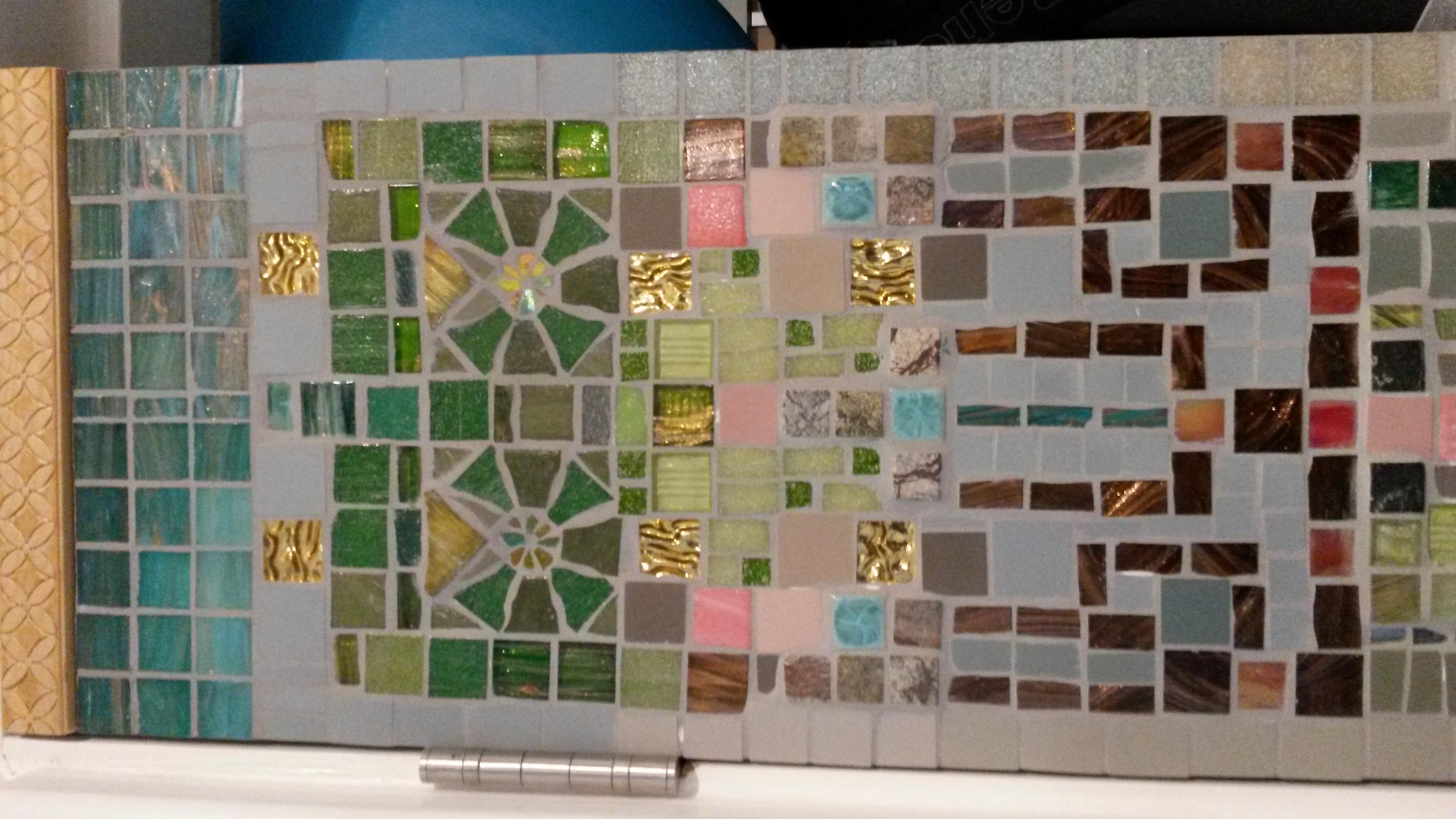 Detail of art nouveau tree mosaic