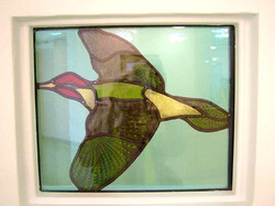 Green woodpecker detail