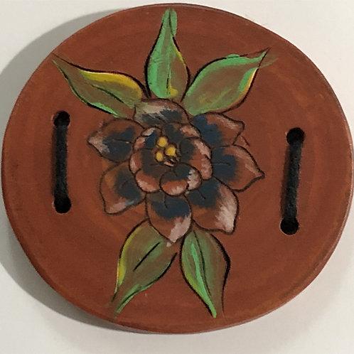 Bouton fleur imprimé teint