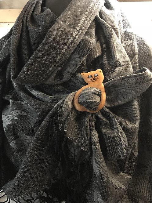 Boucle foulard chat