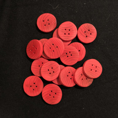 Boutons rouge 3cm