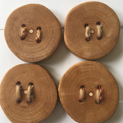 Boutons en bois de viorne