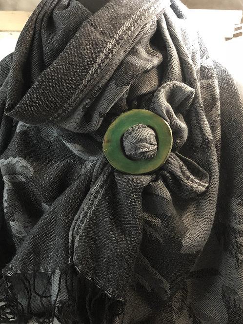 Boucle foulard teint en vert