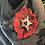 Thumbnail: Broche feutrée rouge