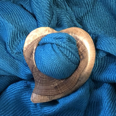 Boucle foulard coeur