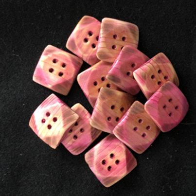Boutons carrés roses