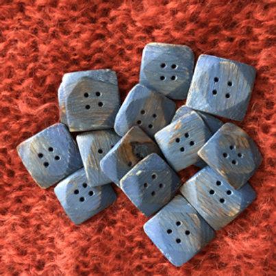 Boutons carrés bleus
