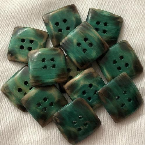 Boutons carrés vert
