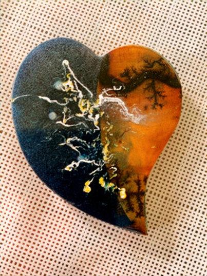 Broche coeur magnétique