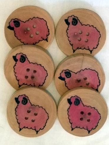 Boutons mouton rose