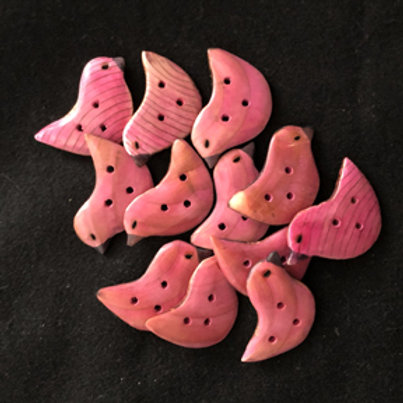 Boutons oiseaux roses