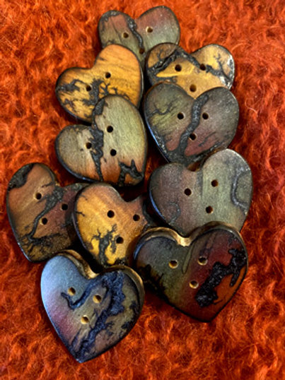 Boutons coeur nature