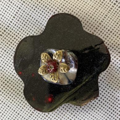broche magnétique fleur