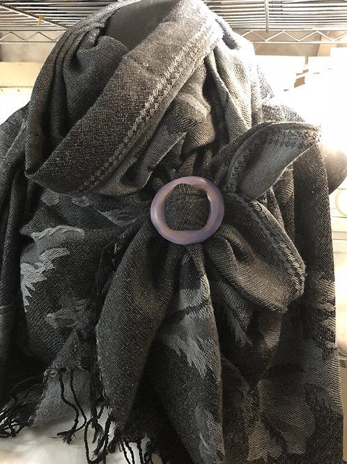 Boucle à foulard lilas