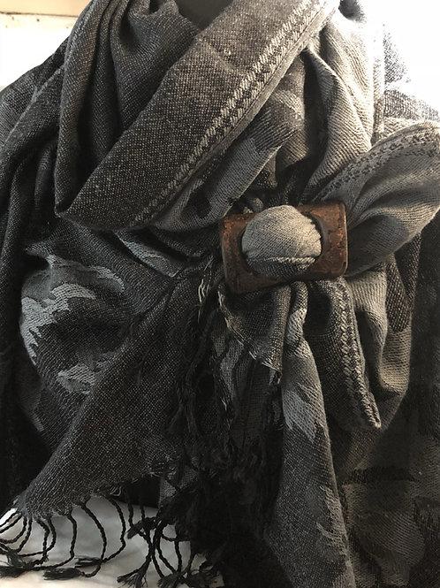 Boucle à foulard écorce