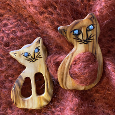 Boucle à foulard chat