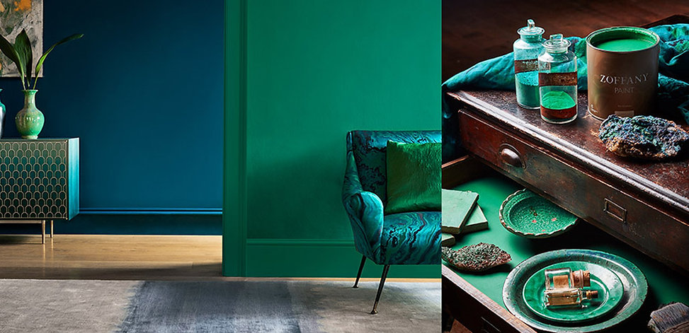 Zoffany-Paint-banner-emerald-drapes-styl