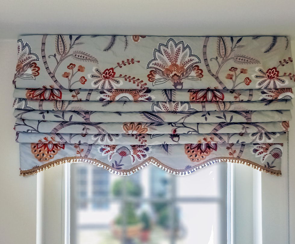 Roman blind in Guernsey