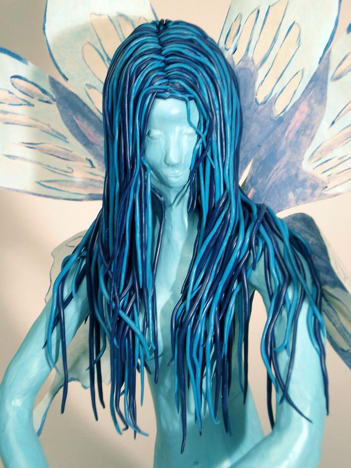 Fee_bleue_detail_mixmedia_2008