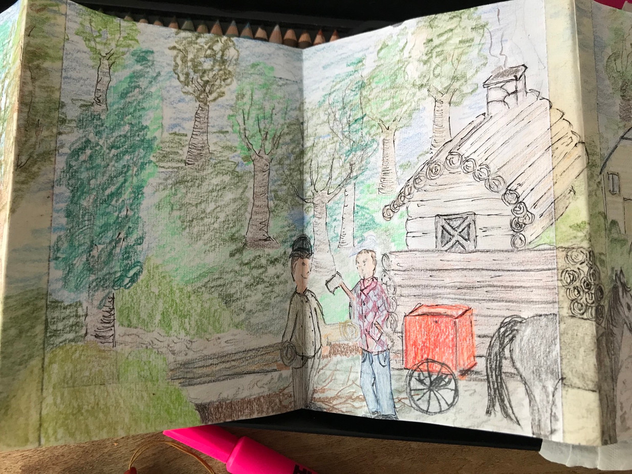 The Sketchbook project, p.6b, 2020-2021