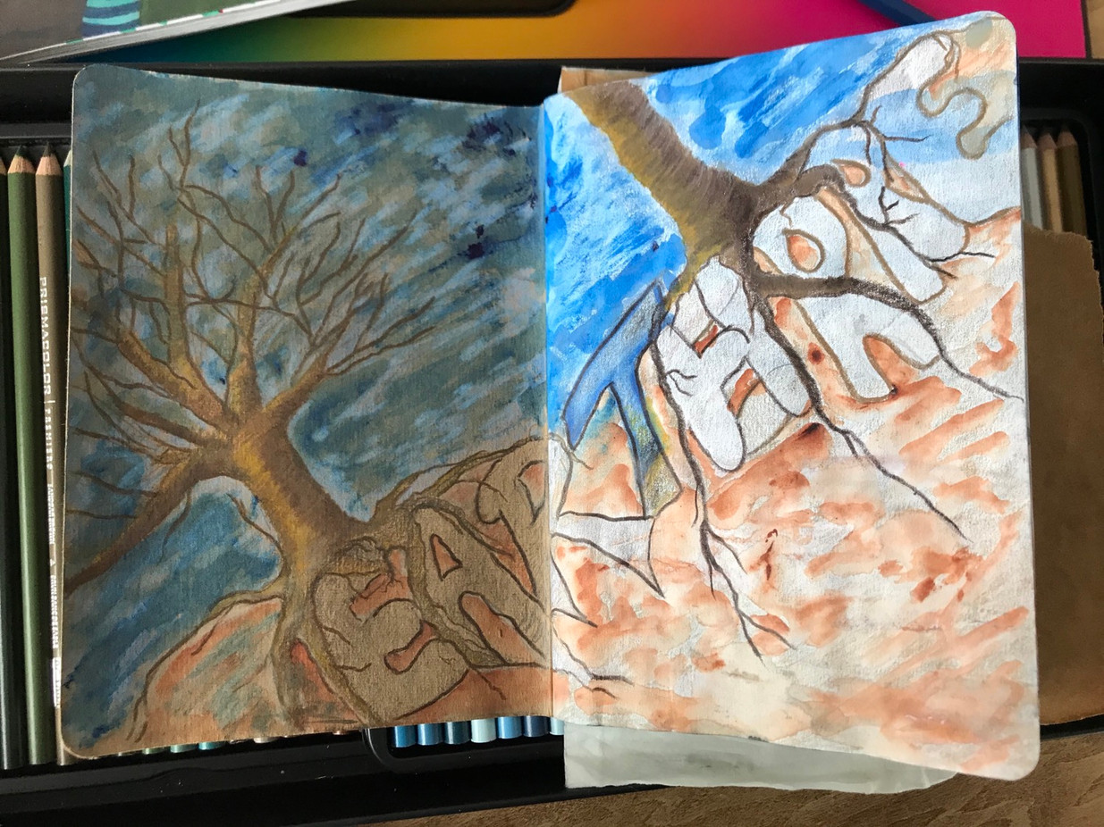The Sketchbook project, p.1, 2020-2021