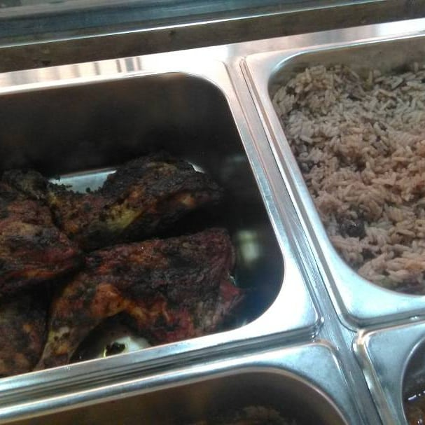 Jerk chicken Eleganza bus stop