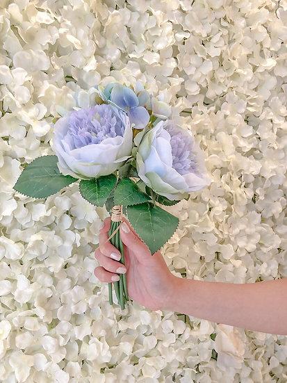 Blue Peony & Hydrangea Artificial Flower Bouquet
