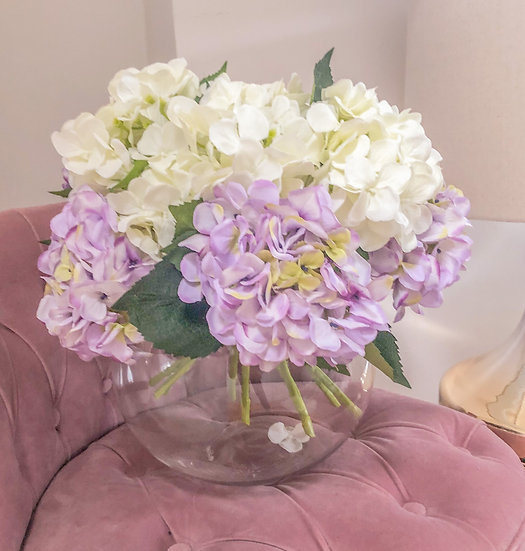 Bouquet of Lilac & Ivory Hydrangeas