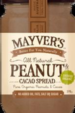 Mayver's Peanut Butter Cacao Spread 375g