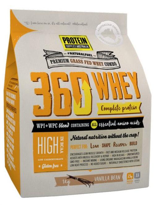 Protein Supplies Australia 360Whey (Complete Protein) 1kg