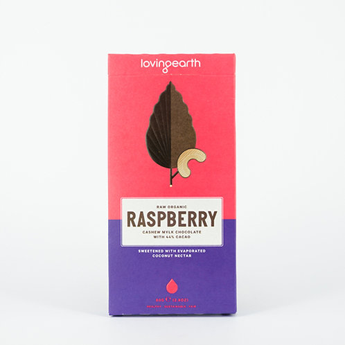 Loving Earth Raspberry Cashew Mylk Chocolate